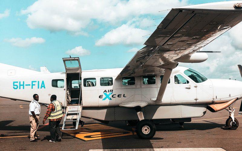 Arrival with a domestic flight in Tanzania