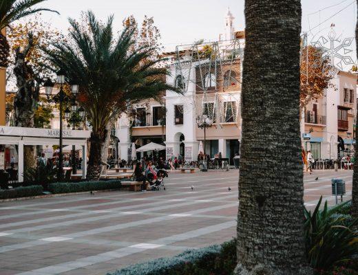 Nerja main square, Andalusia, Spain