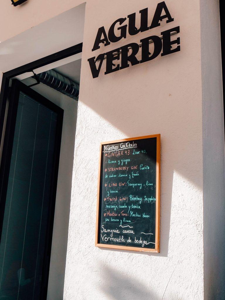 Agua Verde drinks in Cordoba, Spain
