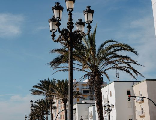 Waterfront views in Cadiz, Spain