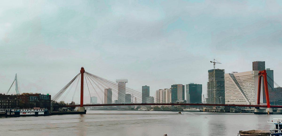 Willemsbrug - View from the Maasboulevard, Rotterdam