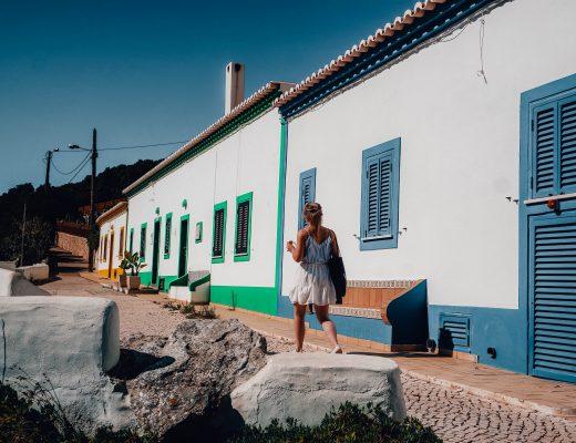 Houses after Praia de Benagil, Portugal
