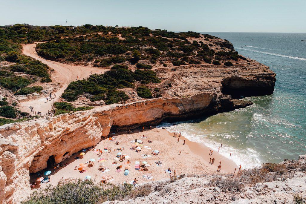 Praia da Carvalho from the Seven Hanging Valleys Trail, Portugal, Algarve