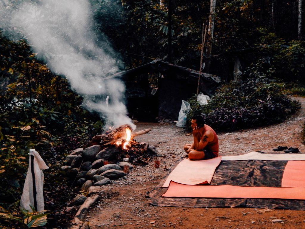 Camp in the jungle, Bukit Lawang, Indonesia