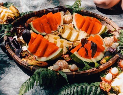 Fruit platter in the morning, Bukit Lawang, Sumatra