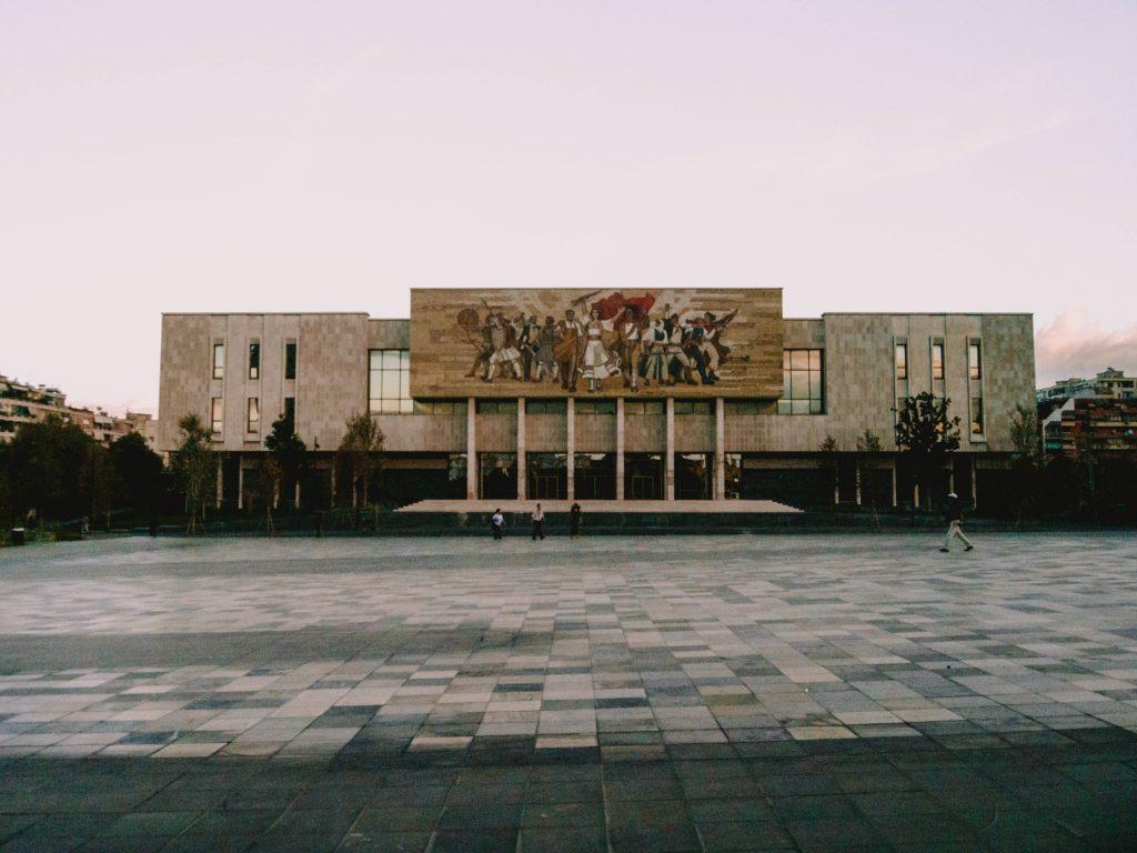 Skanderbeg Square, National History Museum, Tirana, Albania