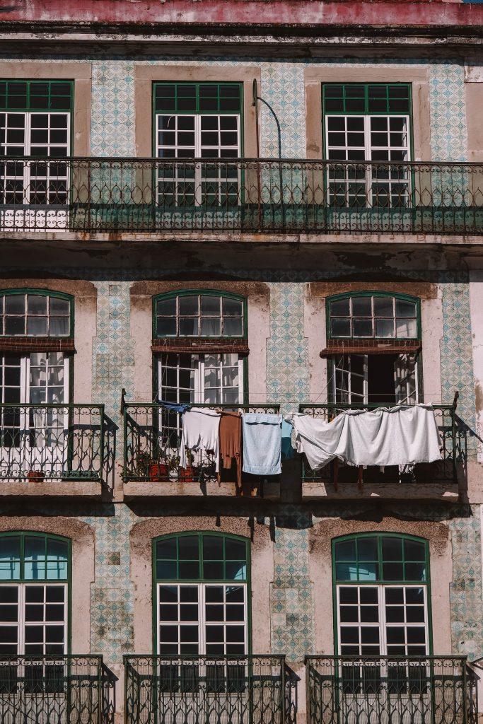 Facades in Alfama, Lisbon