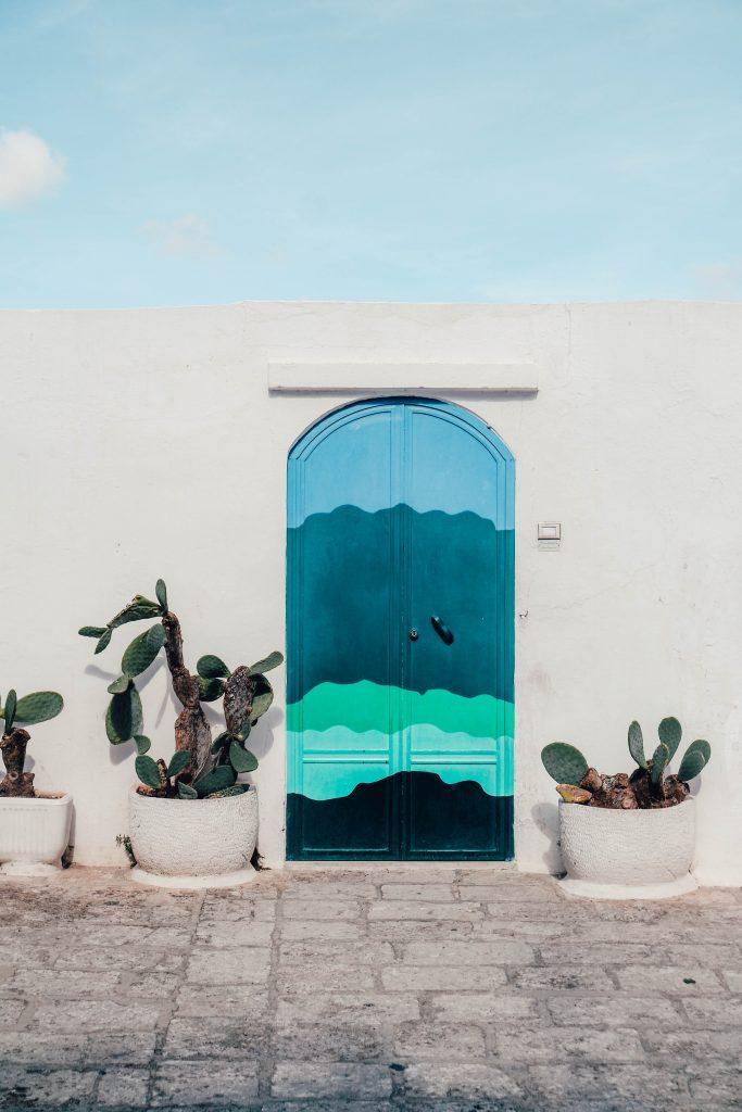 Famous door in Ostuni (Porta del Paradiso), Puglia