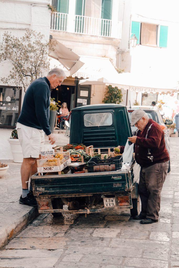 Details of Ostuni, The white city of Puglia