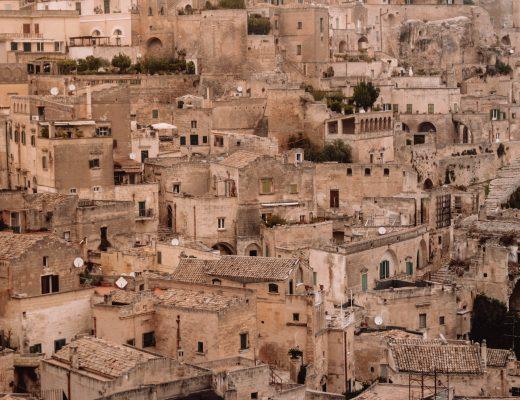 View from Belvedere di Piazza Giovanni Pascoli, Matera
