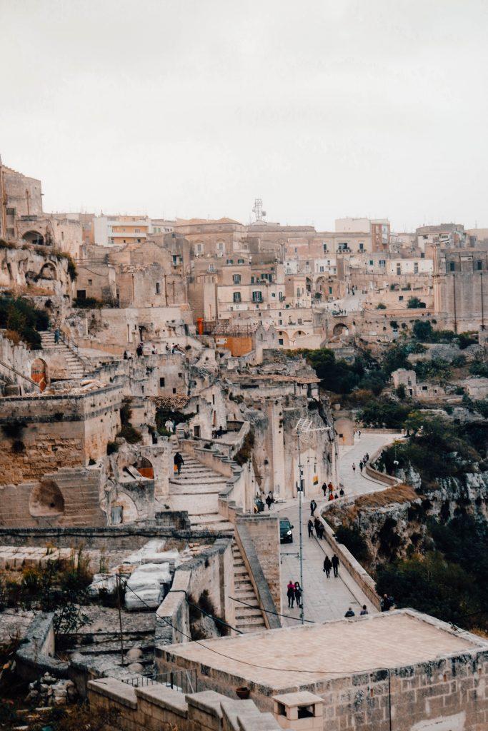 Views over Sasso Caveoso, Matera, Italy