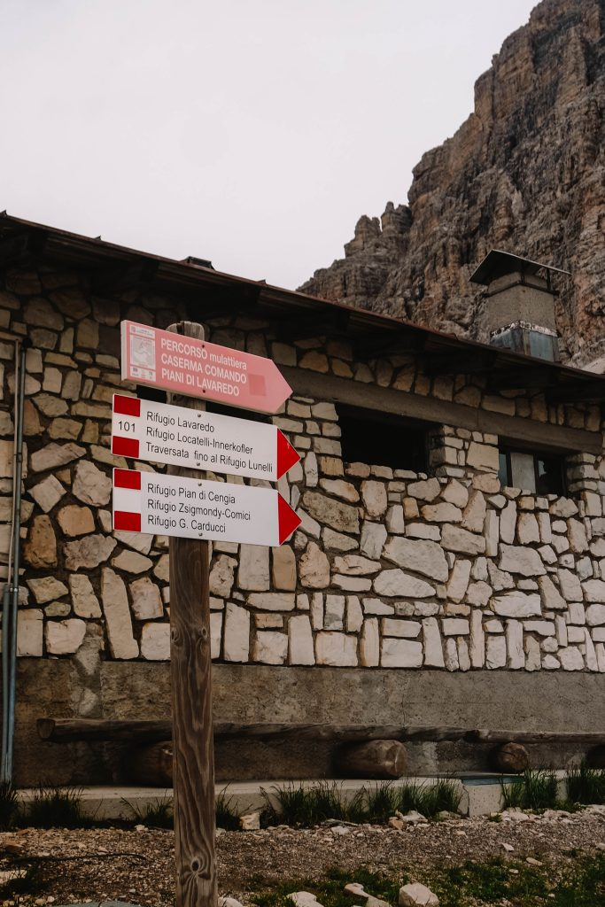 Start of the Tre Cime day hike - routing