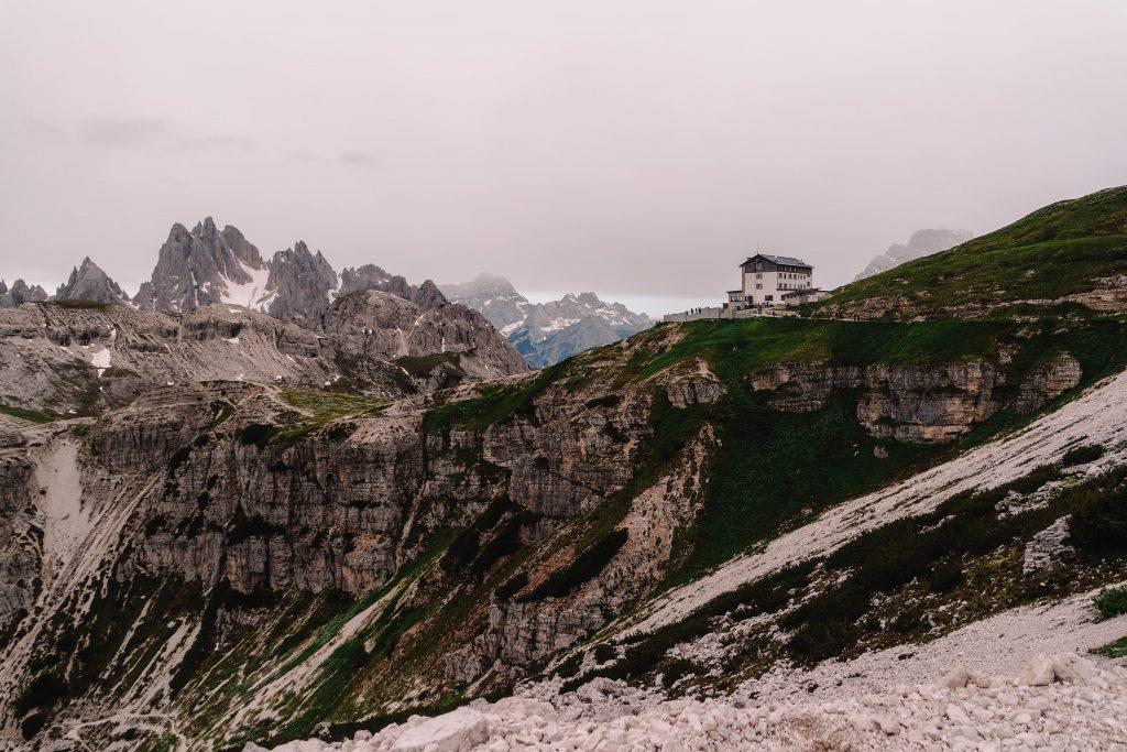 View on Rifugio Auronzo, Tre Cime Day Hike