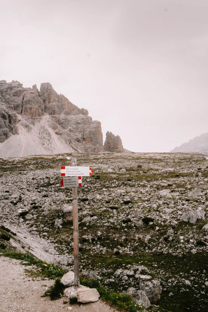 Routing at the Tre Cime Loop - Circuit Day Hike