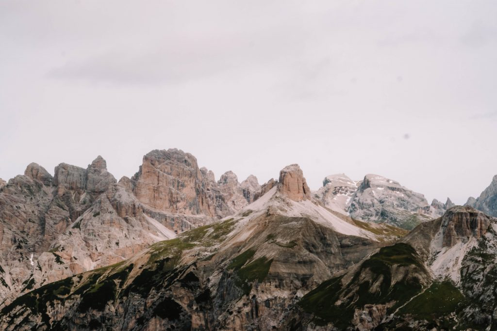 Mountain Range views from the Tre Cime Day Hike
