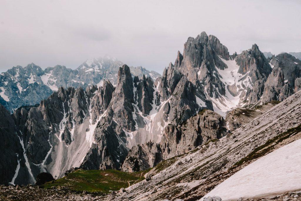 Views over the Tre Cime, Drei Zinnen during the Tre Cime Di Lavaredo