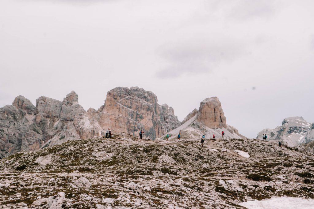 Hiking the paths during the Tre Cime Di Lavaredo Circuit hike