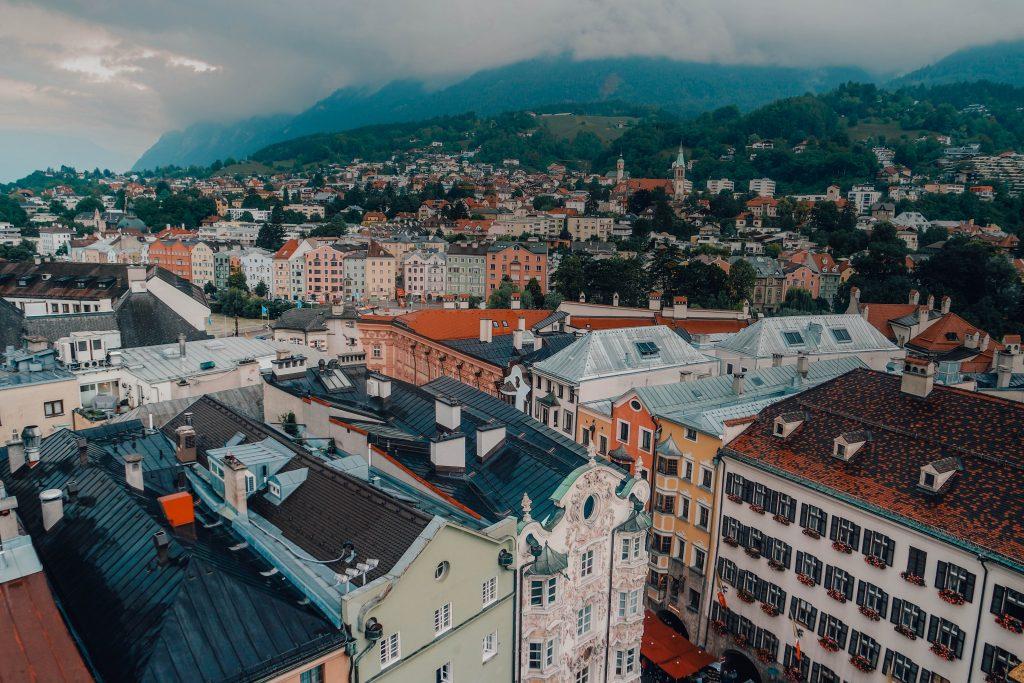 Views from the Stadtturm Innsbruck, City Views, Austria