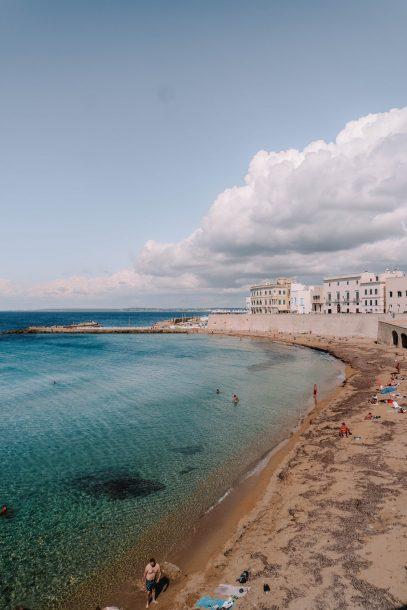 Beach in Gallipoli, Puglia, Italy