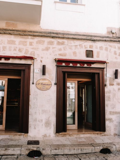 Bakery in Monopoli, Puglia, Italy